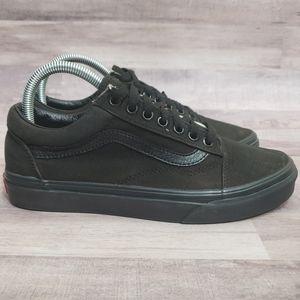 Vans All Black Canvas Old Skool Sneakers Unisex